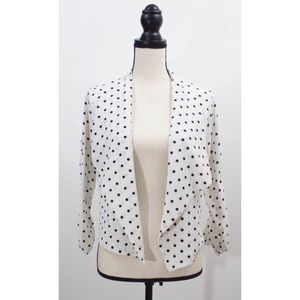iris Jackets & Coats - Iris Black and White Polka Dot Jacket Size L